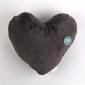 Poduszka dekoracyjna futerko altom design w kształcie serca ciemnoszara
