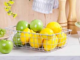 Koszyk metalowy  druciany na owoce szary altom design prostokątny duży