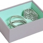 Szkatułka na biżuterię  stackers open mini szaro-miętowa