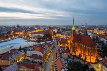 Wrocław, polska -plakat premium wymiar do wyboru: 100x70 cm