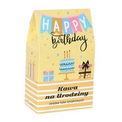 Urodzinowa torebka z kawą – prezent upominek na urodziny z kawą aromatyzowaną smakową 10x10g