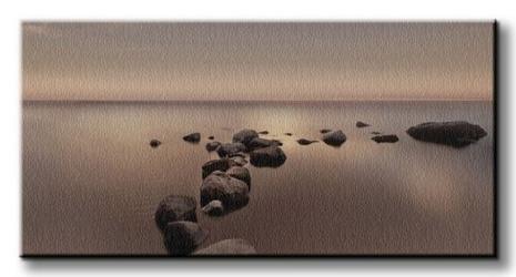 Calm sea - obraz na płótnie