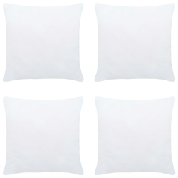 Vidaxl wkłady do poduszek, 4 szt., 30x30 cm, białe
