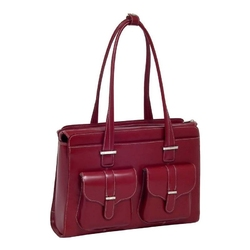 Skórzana czerwona torba damska