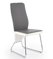 Krzesło do jadalni skyway ii białeszare ekoskóra