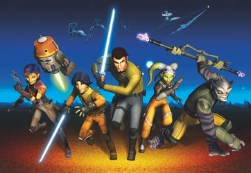 Fototapeta gwiezdne wojny rebels run 8-486