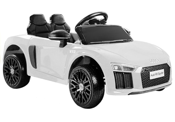 Auto na akumulator audi r8 spyder m biały + pilot