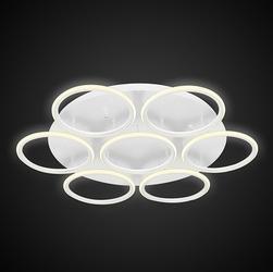 Designerski plafon sufitowy ledowe okręgi 7 out biały