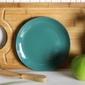 Talerz deserowy porcelanowy altom design monokolor voyager  ciemny zielony 19 cm