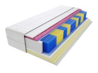 Materac kieszeniowy zefir molet multipocket 145x220 cm miękki  średnio twardy 2x visco memory