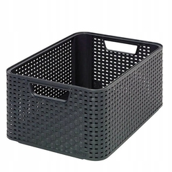 Koszyk curver rattan bez pokrywki szary pudełko romiar m
