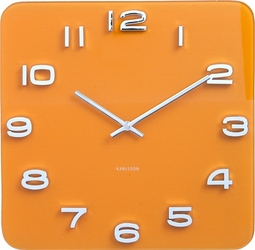Zegar ścienny vintage żółty