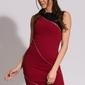 Emamoda sukienka - bordowy 9909-3