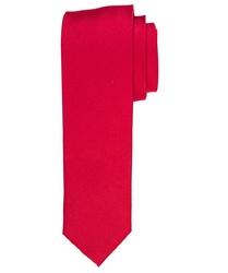 Czerwony krawat jedwabny wąski 6,5cm