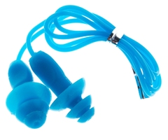 Zatyczki do uszu+pasek vivo silikon-pvc b-2005 jasno niebieski