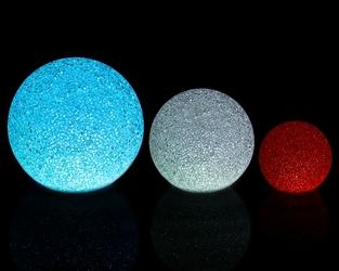 Zestaw 3 kul świecących led multikolor 81215 cm