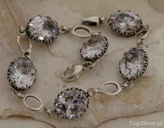First look - srebrny naszyjnik z szafirami