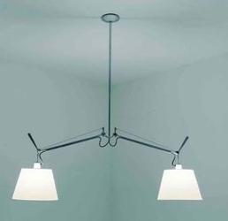 Artemide :: lampa wisząca tolomeo basculante due bracci, pergamin 24