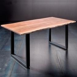 Stół catania obrzeża ciosane natur, 240x100 cm grubość 5,5 cm
