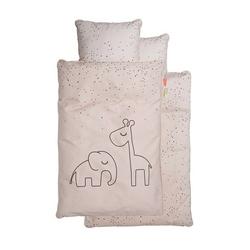 Pościel dziecięca done by deer dots 140x100 + 60x40 - różowa