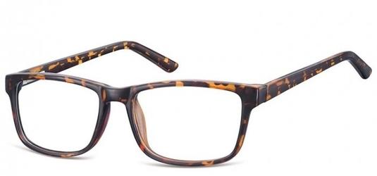 Okulary zerówki klasyczne oprawki sunoptic cp155a panterka