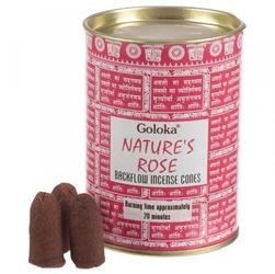 Róża - kadzidełka stożkowe typu backflow op. 24 szt