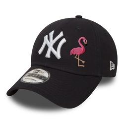 Czapka new era 9forty new york yankees ny navy - custom flamingo - 10531939