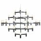 Lampa wisząca candles-30 chrom 120 cm - chrom