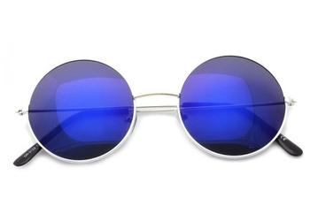Lenonki srebrno niebieskie hippie retro 3122g