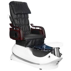 Fotel pedicure spa as-261 czarno-biały z funkcją masażu