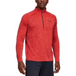 Koszulka męska under armour tech 12 zip 2.0 - czerwony