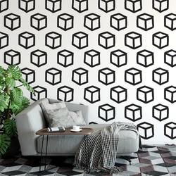 Tapeta na ścianę - box design , rodzaj - tapeta flizelinowa laminowana