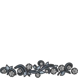 Wieszak ścienny Flowers CalleaDesign niebieski 13-005-44