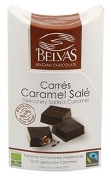 Belvas | carres caramel sale czekoladki ze słonym karmelem | organic - fair trade