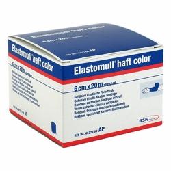Elastomull haft color 20mx6cm blau Fixierb.