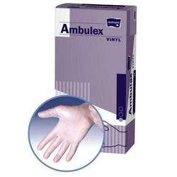 Rękawice ambulex vinyl niejałowe niepudrowane rozmiar s x 100 sztuk