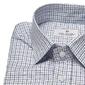 Biała koszula van thorn w niebieską i granatową kratę z półwłoskim kołnierzykiem 50