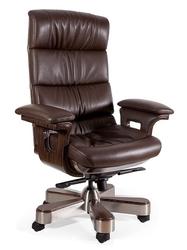 Designerski fotel gabinetowy ze skóry naturalnej lord