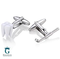 Spinki do mankietów x2 prezent dla dentysty