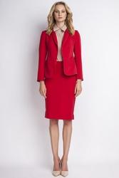 Czerwona elegancka marynarka damska