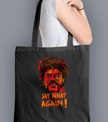 Say what again  torba na zakupy czarna universal