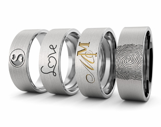 Obrączka srebrna z Twoim logo - wzór Ag-386