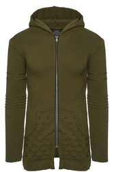 Sweter - khaki 27007-2