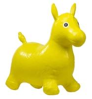 Skoczek gumowy do skakania koń - żółty