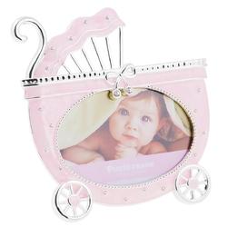 Ramka na zdjęcie różowy wózek kokardka pamiątka dedykacja