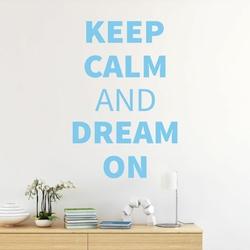 szablon ścienny keep calm and dream on 19SM46