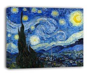 Gwieździsta noc - vincent van gogh - obraz na płótnie wymiar do wyboru: 60x40 cm