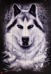 Wilk Śnieżny - obraz na drewnie