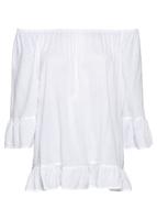 Bluzka tunikowa bonprix biały