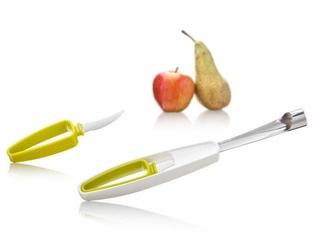 Drylownica do jabłek z nożykiem Tomorrows Kitchen biało-zielona